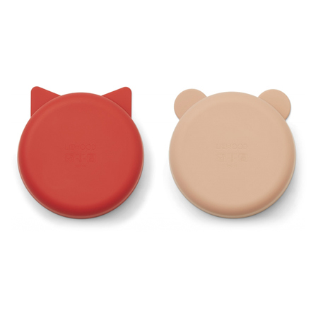 Immagine di Liewood® Set di ciotole in silicone Vanessa Apple Red/Tuscany Rose Mix