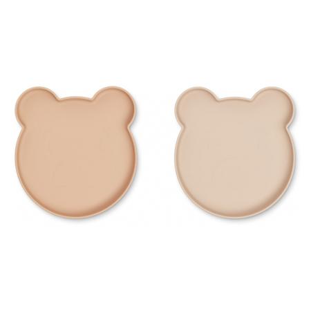 Immagine di Liewood® Set di 2 piatti in silicone Marty - Mr Bear Rose Mix