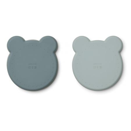 Immagine di Liewood® Set di 2 piatti in silicone Marty  Mr Bear Blue Mix