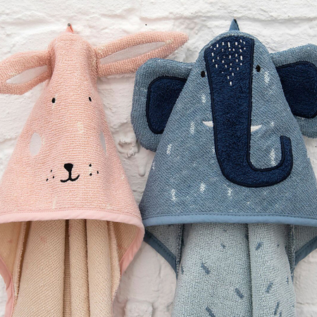 Immagine di Trixie Baby® Asciugamano con cappuccio 75x75 Mrs. Elephant