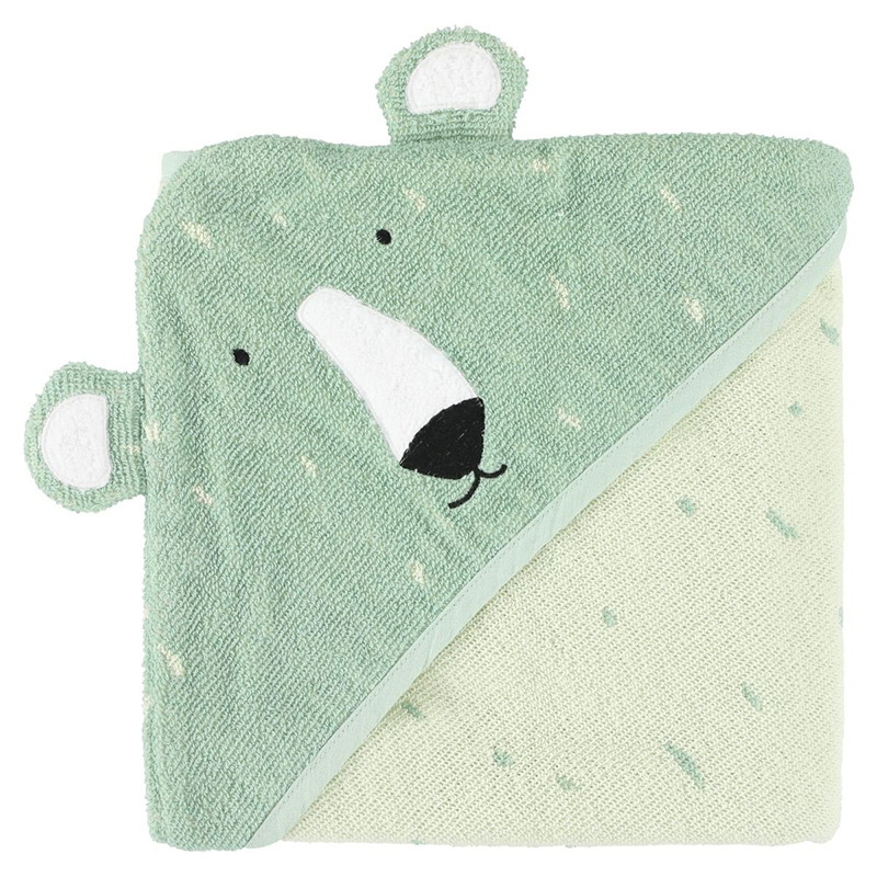 Immagine di Trixie Baby® Asciugamano con cappuccio 75x75 Mr. Polar Bear