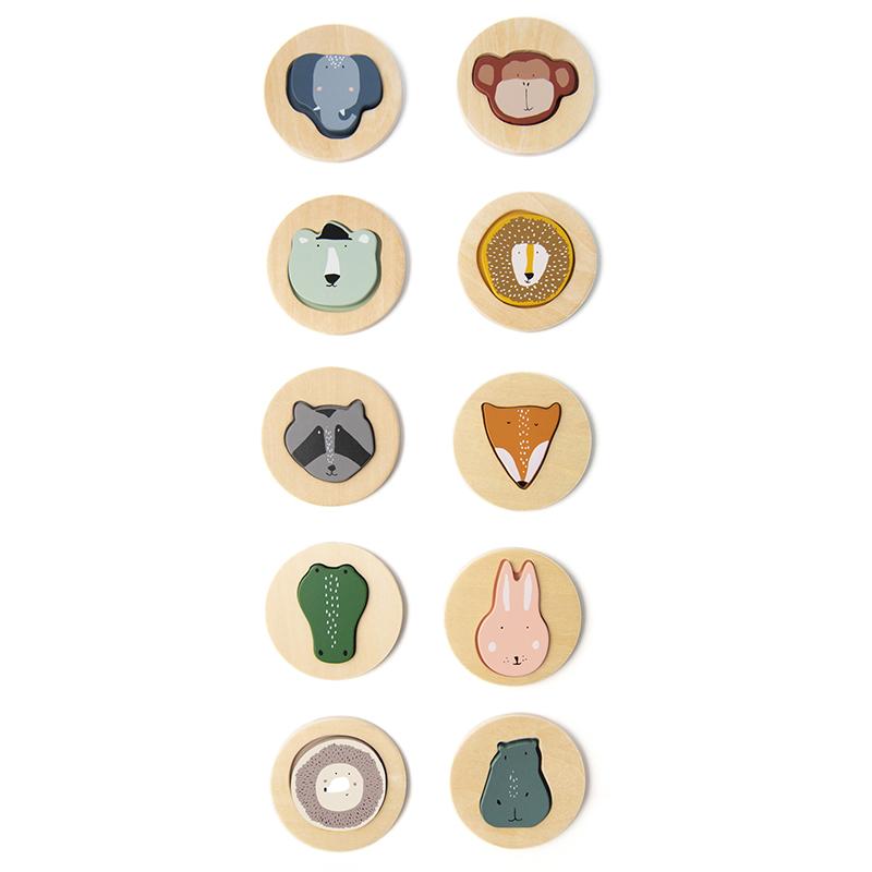 Immagine di Trixie Baby® Puzzle in legno con facce di animali