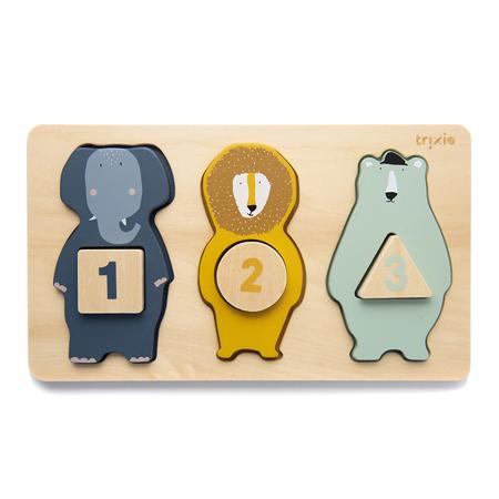 Immagine di Trixie Baby® Puzzle in legno con numeri e animali