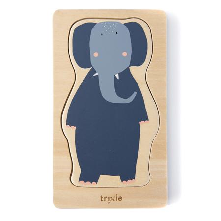 Immagine di Trixie Baby® Puzzle in legno a quattro strati con personaggi animali