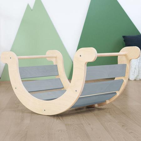 Immagine di Benlemi® Altalena per l'equilibrio Montessori Yupee Grey
