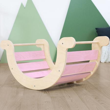 Immagine di Benlemi® Altalena per l'equilibrio Montessori Yupee Pink