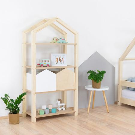 Immagine di Benlemi® Libreria in legno Tally Natural