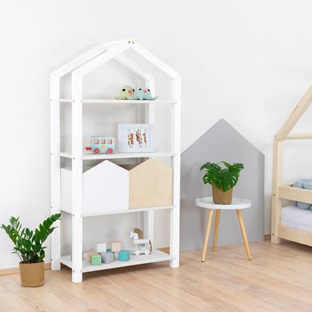 Immagine di Benlemi® Libreria in legno Tally White