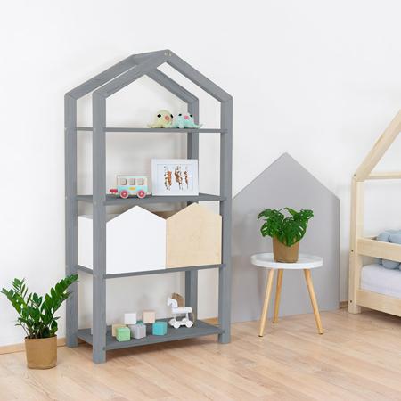Immagine di Benlemi® Libreria in legno Tally Grey