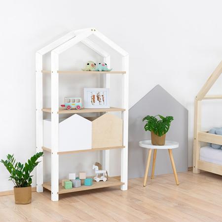 Immagine di Benlemi® Libreria in legno Tally White/Natural