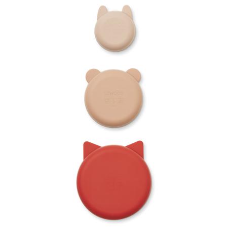 Immagine di Liewood® Ciotole in silicone Eddie Apple Red/Rose Multi Mix