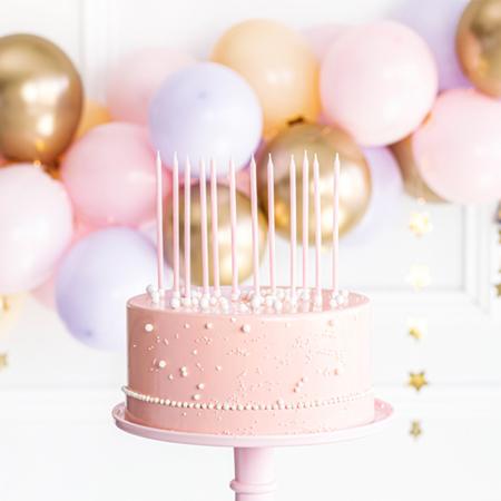 Immagine di Party Deco Candeline compleanno 14 cm Light Pink 12 pezzi