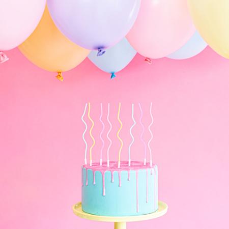 Immagine di Party Deco Candeline compleanno 14 cm 8 pezzi