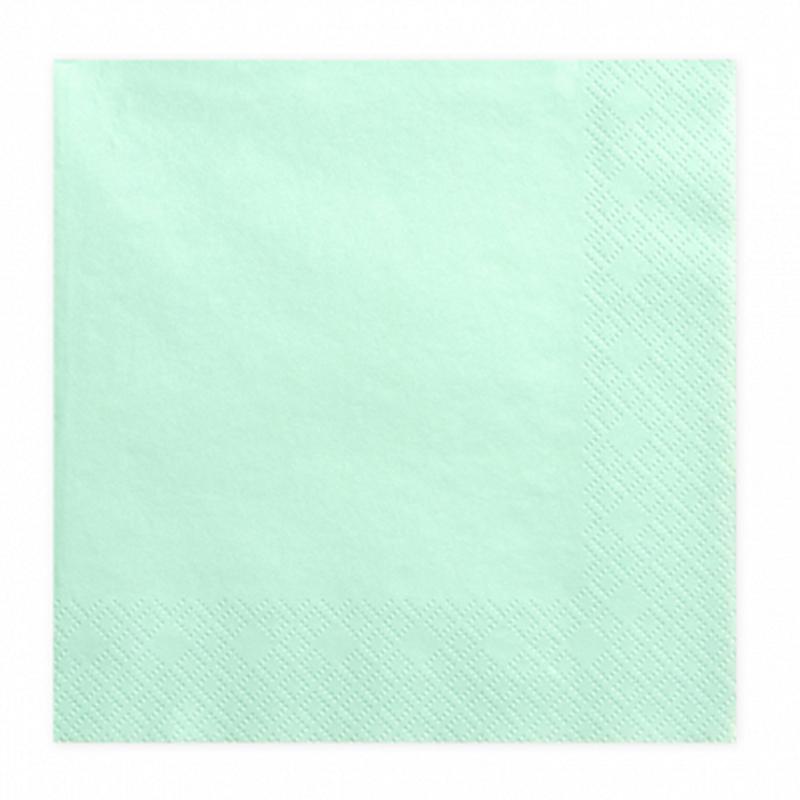 Immagine di Party Deco® Tovaglioli  Mint 20 pezzi