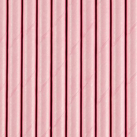Immagine di Party Deco®  Cannucce in carta  Light Pink  10 pz