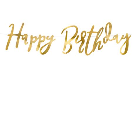 Immagine di Party Deco® Scritta Happy Birthday Gold