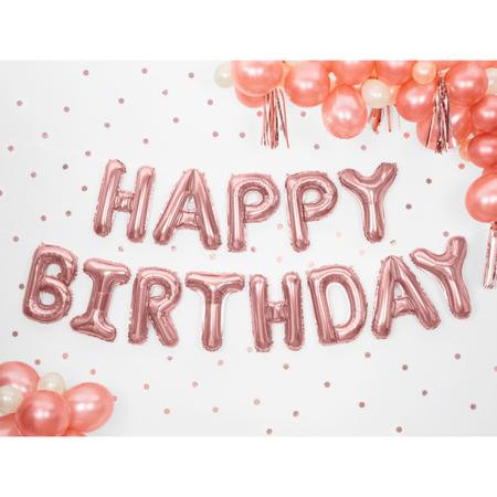 Immagine di Party Deco® Palloncini Happy Birthday Rose Gold
