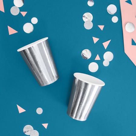 Immagine di Party Deco® Bicchieri Silver 6 pezzi