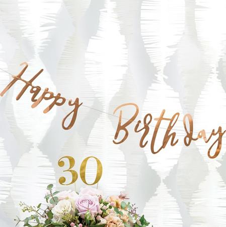 Immagine di Party Deco® Scritta  Happy Birthday Rose Gold