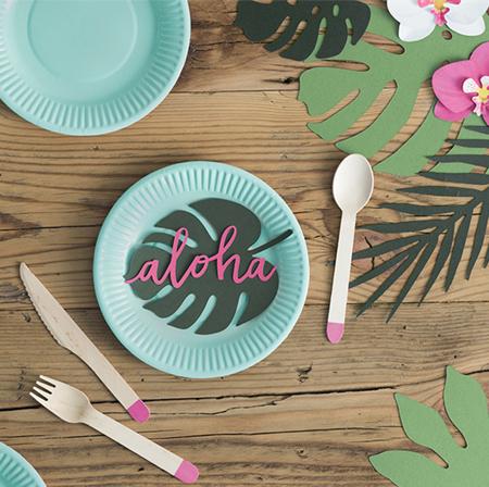 Immagine di Party Deco® Decorazioni per il tavolo Aloha  21 pezzi