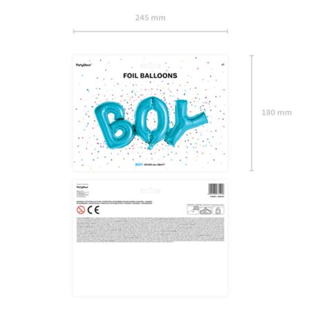 Party Deco® Palloncini con scritta Boy Blue