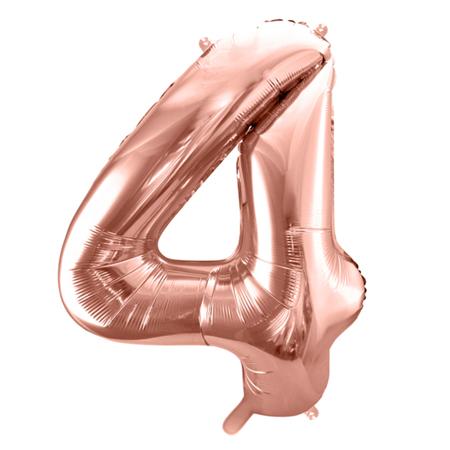 Party Deco® Palloncino numero 4 Rose Gold