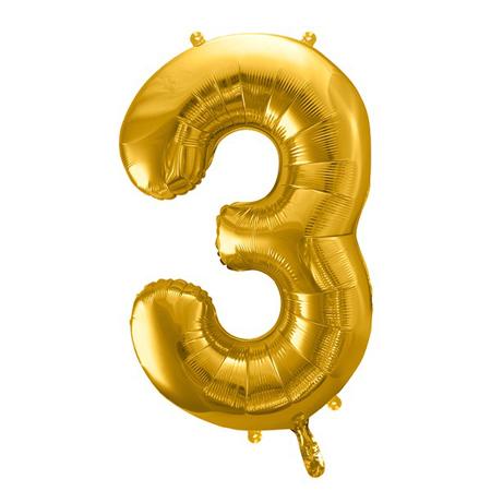 Party Deco® Palloncino numero 3 Gold