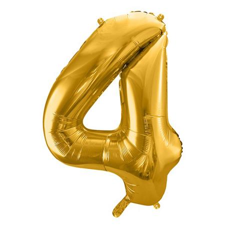 Party Deco® Palloncino numero 4 Gold