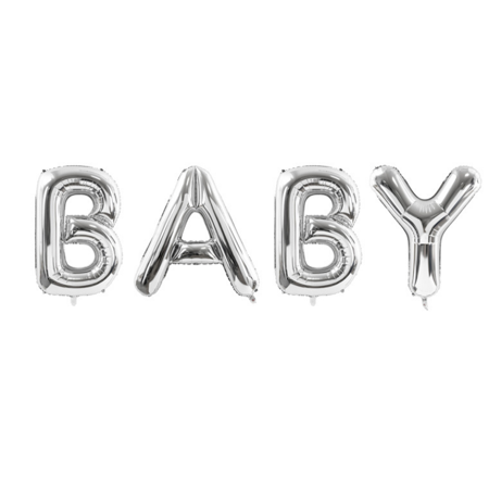 Immagine di Party Deco® Palloncino Baby Silver