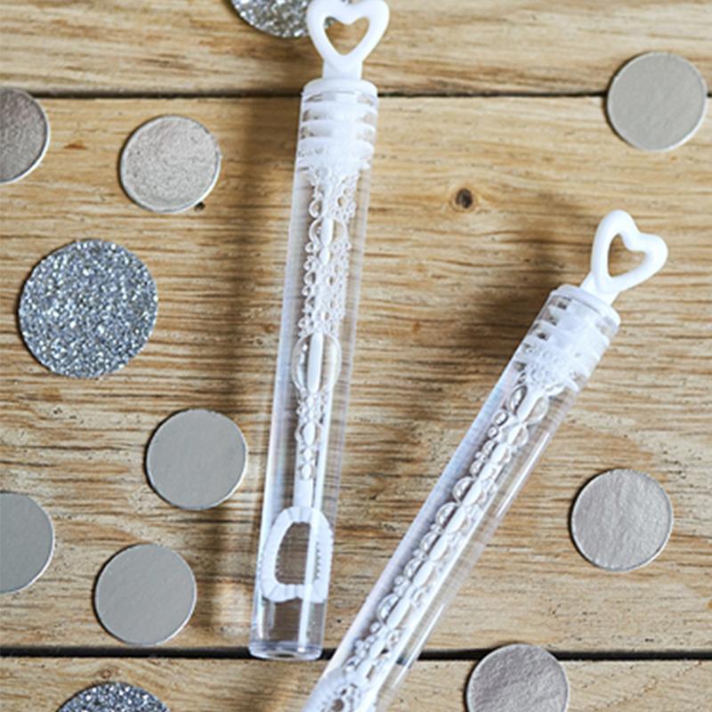 Immagine di Party Deco® Bolle di sapone Heart White