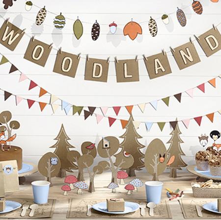 Immagine di Party Deco® Set decorazioni per la torta Bosco 6 pezzi