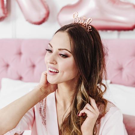 Party Deco® Cerchietto per capelli per la sposa Rose Gold