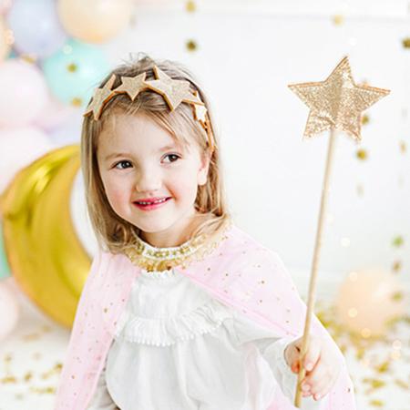 Immagine di Party Deco® Cerchietto per capelli Stelle Gold