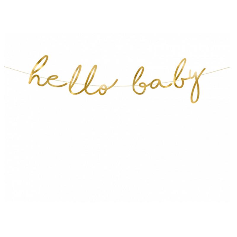 Immagine di Party Deco® Scritta Little Star Hello Baby Gold