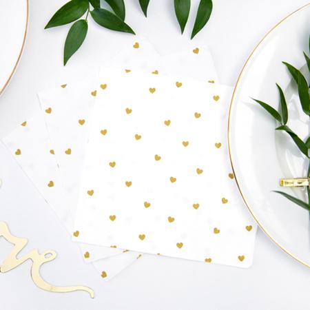 Immagine di Party Deco® Tovaglioli Cuoricini  White 20 pz