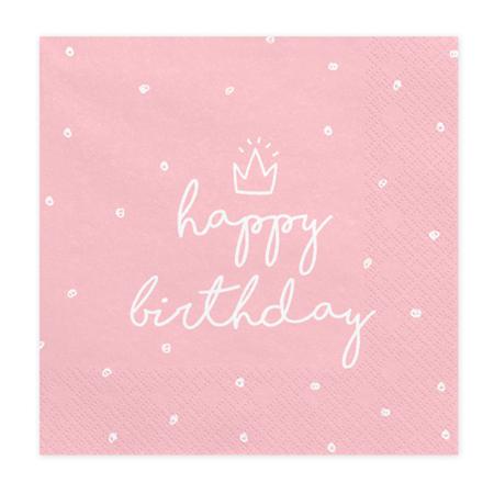 Immagine di Party Deco® Tovaglioli Happy Birthday 20 pz