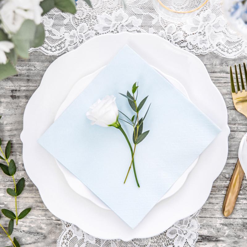 Immagine di Party Deco® Tovaglioli Light Sky Blue 20 pezzi