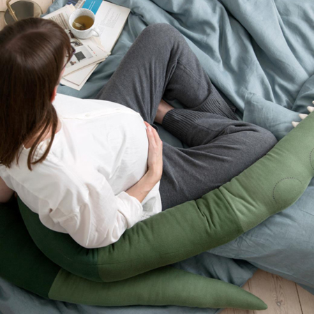 Sebra® Cuscino Sleepy Croc Pine Green XXL