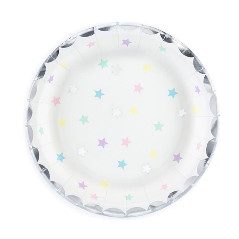 Immagine di Party Deco® Piatti unicorno-stelle 6 pezzi