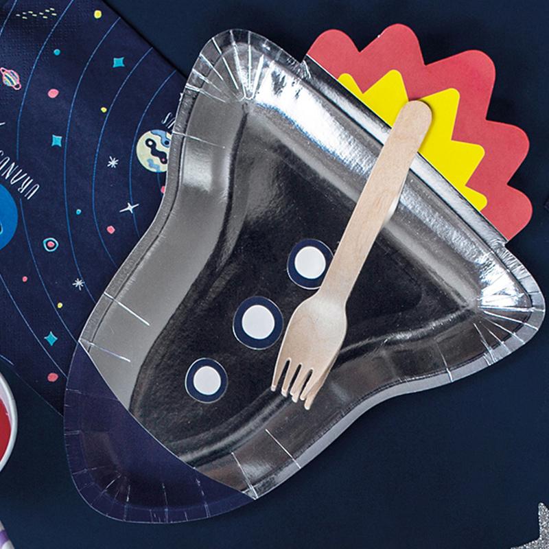 Immagine di Party Deco® Piatti di carta Festa spaziale Raketa 6 pezzi