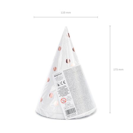 Immagine di Party Deco® Party cappelli  White 6 pezzi