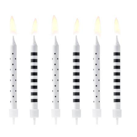 Immagine di Party Deco® Candele Punti e linee 6 pezzi