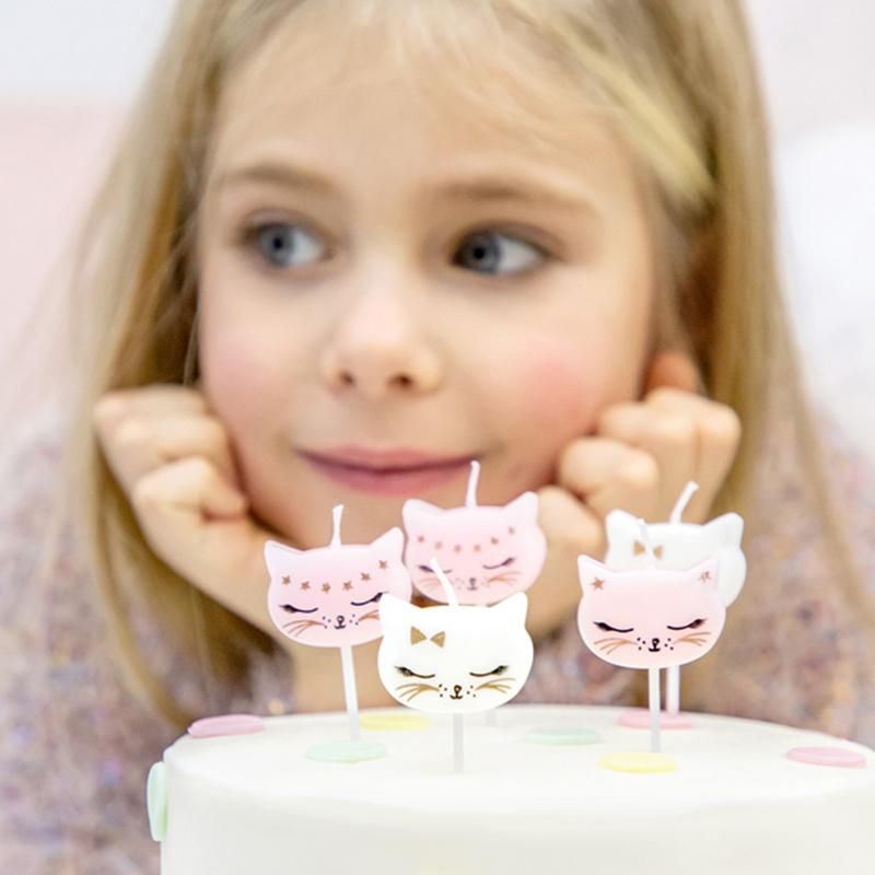 Immagine di Party Deco® Candeline Gattino 6 pz