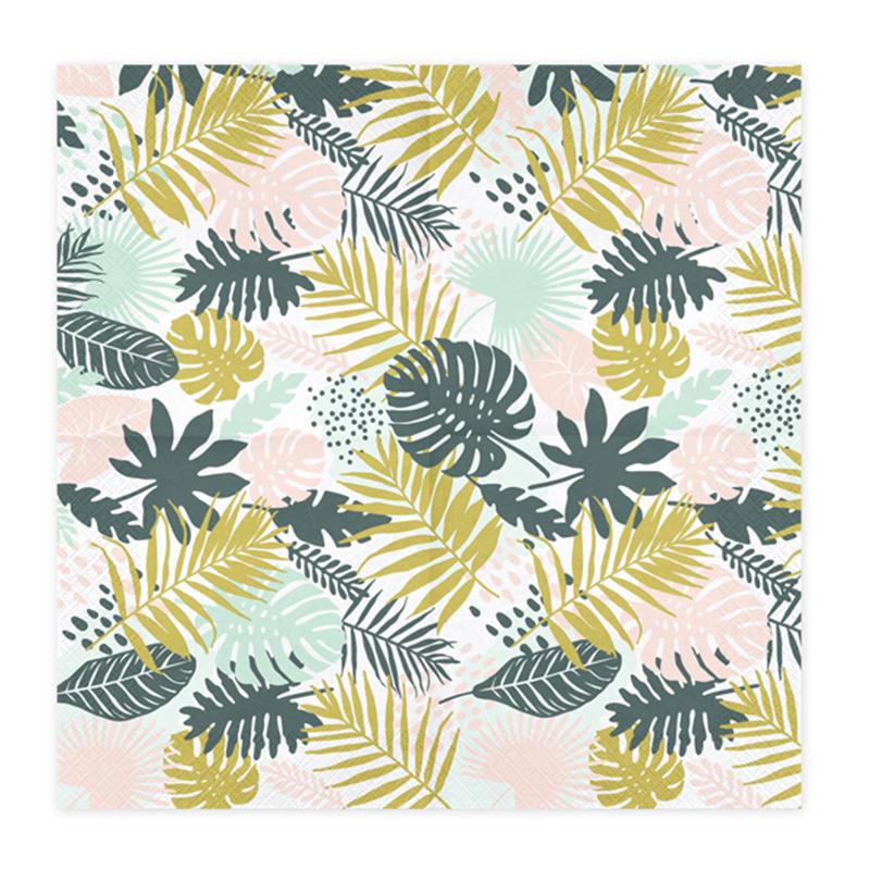 Immagine di Party Deco® Tovaglioli di carta Aloha Leaves 20 pz