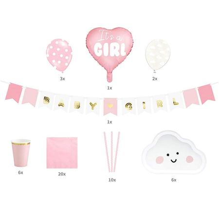 Immagine di Party Deco® Party set di decorazioni It's a girl!