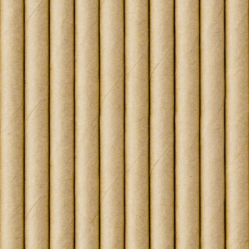Immagine di Party Deco®  Cannucce in carta  Kraft 10 pz