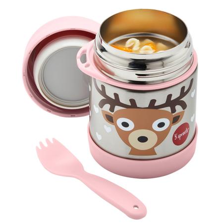 3Sprouts® Contenitore thermos cucchiaio/forchetta Cerbiatto