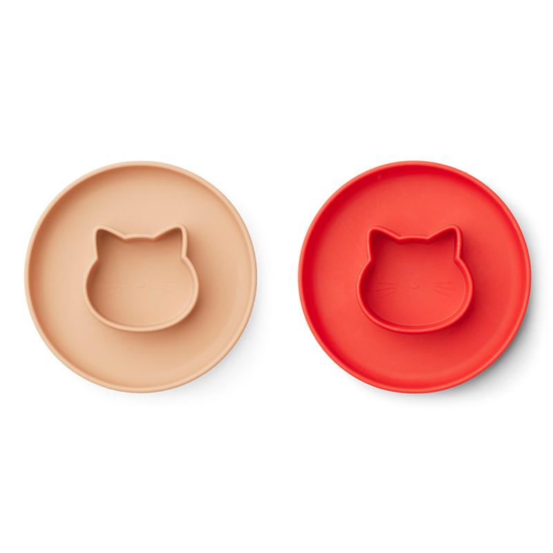 Immagine di Liewood® Set di piatti in silicone Gordon Cat Apple red/tuscany rose Mix