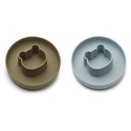 Immagine di Liewood® Set di piatti in silicone Gordon Mr bear blue fog/khaki mix