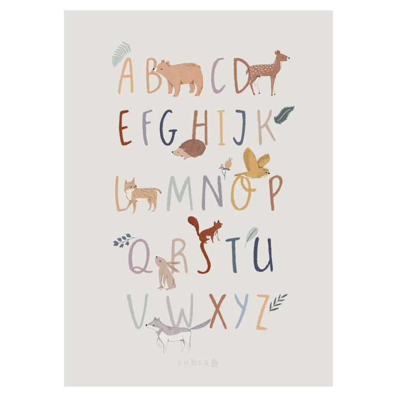 Immagine di Sebra® Poster con l'alfabeto A-Z Nightfall
